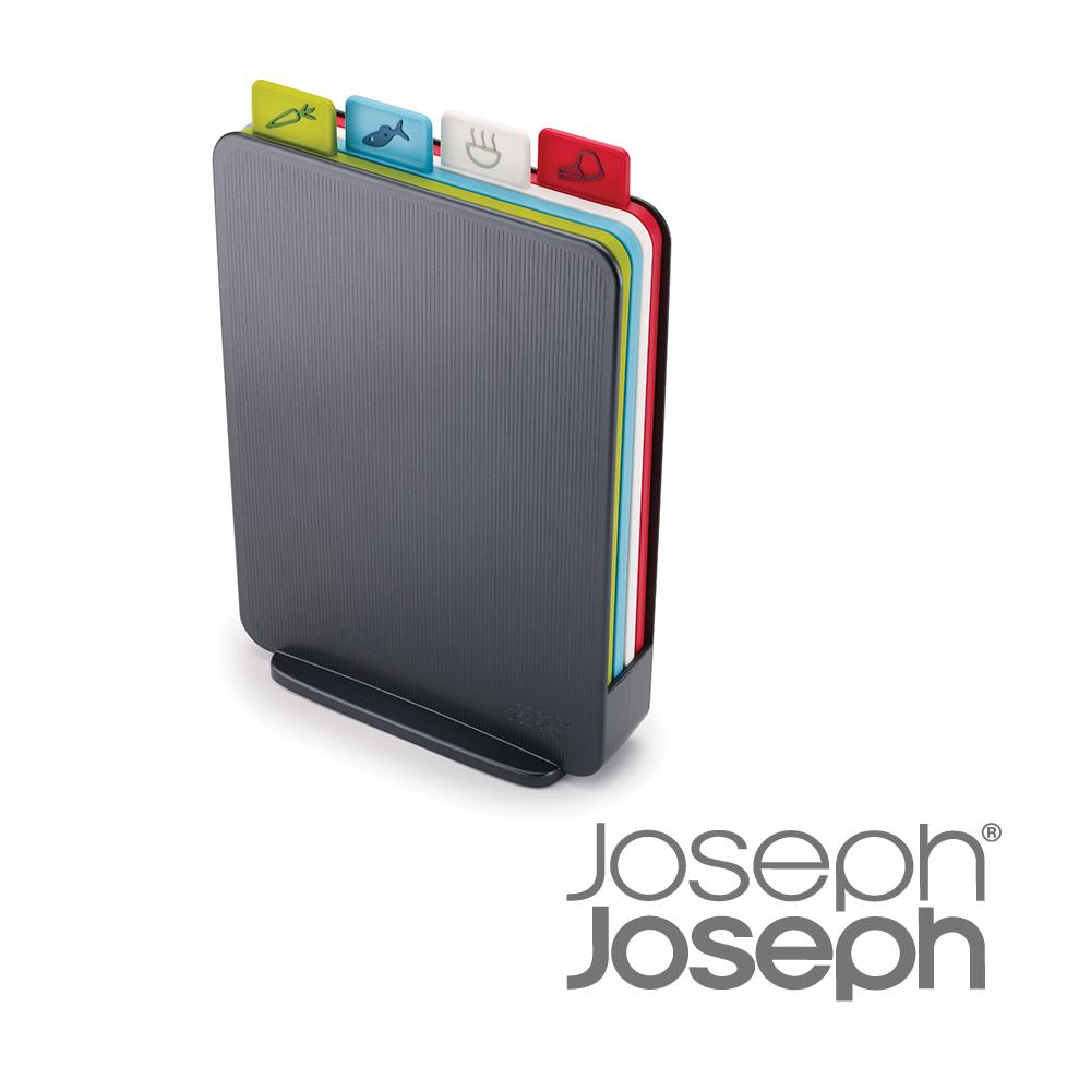 Joseph Joseph英國創意餐廚★檔案夾直立式砧板組(灰)★