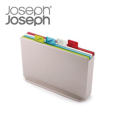 Joseph Joseph 檔案夾 止滑砧板組-雙面附凹槽