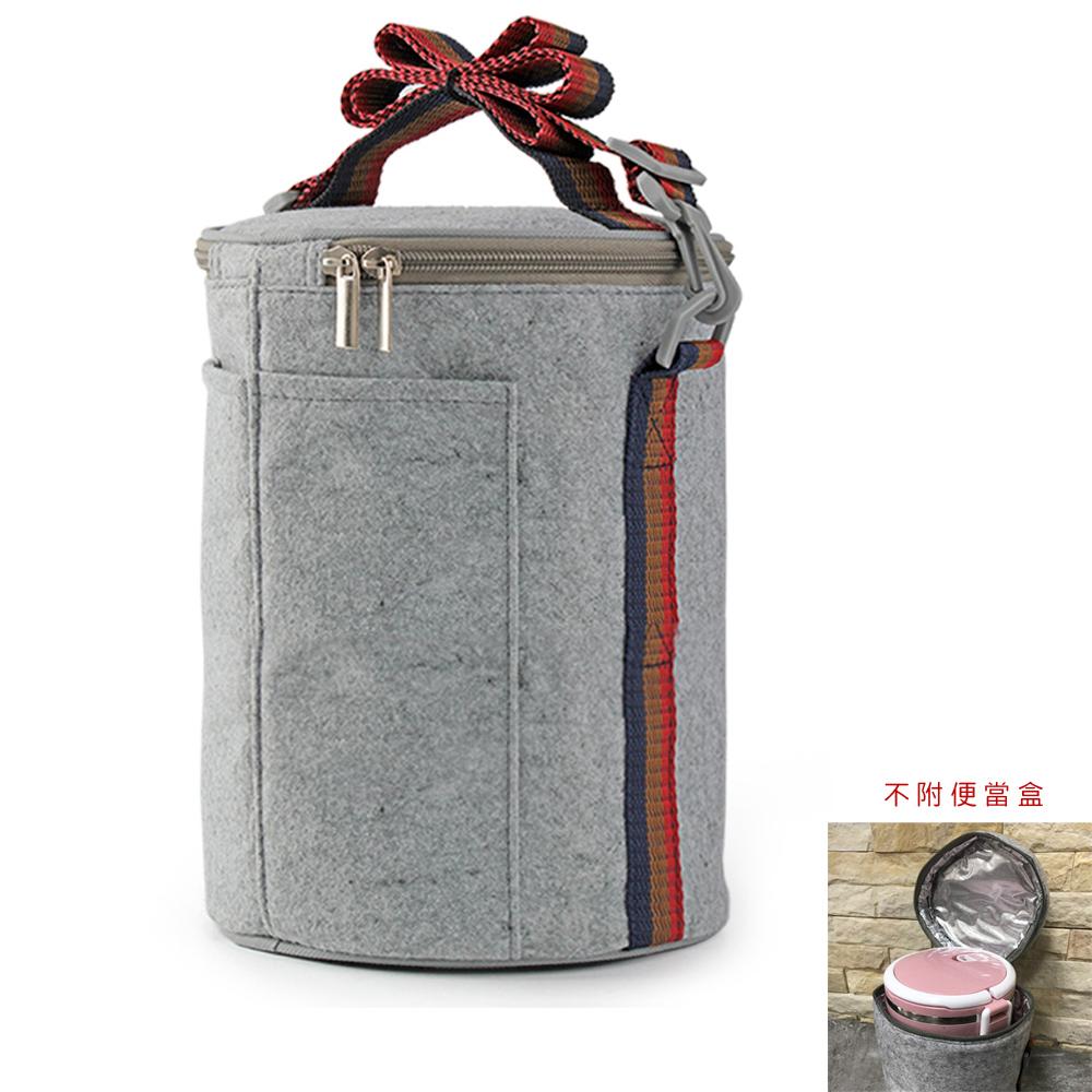 PUSH! 餐具用品飯盒便當盒保溫提袋1入(大號)E94