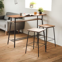 Peachy life 1桌2椅 典雅木紋吧檯桌椅組