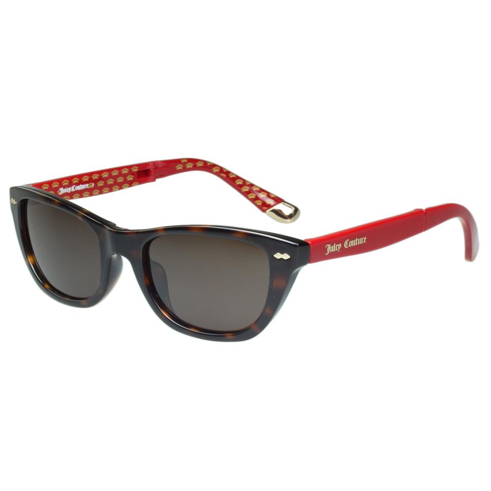 Juicy Couture 時尚太陽眼鏡(琥珀+紅腳)