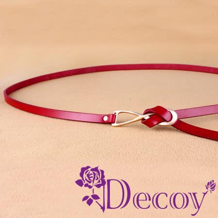 【Decoy】八字結繩*真牛皮細皮帶/三色可選