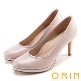 ORIN 簡約時尚名媛 嚴選羊皮質感素面高跟鞋-粉色