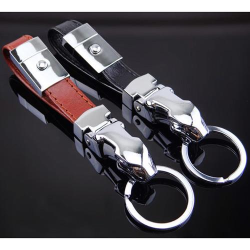 豹頭捷豹金屬壓扣式 汽車鎖圈鑰匙圈