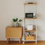 Peachy life 移動式廚房四層電器架/置物架/收納櫃