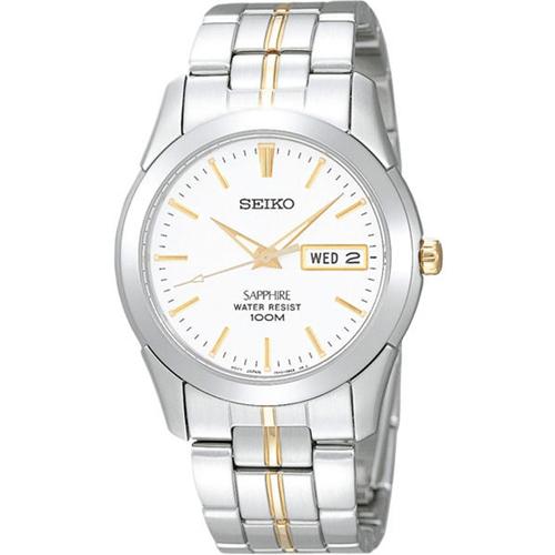 SEIKO 精工 精緻簡約俐落設計腕錶 白/銀 38mm (SGG719J1)7N43-0AR0KS