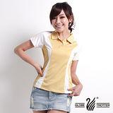 【遊遍天下】女款休閒抗UV吸濕排汗機能POLO衫(黃 M-5L 品特)