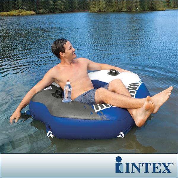 【INTEX】可連接式水上充氣沙發椅RIVER RUN漂流躺椅(58854)