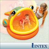 【INTEX】BABY金魚游泳池/遮陽嬰兒水池(53L) (57109)