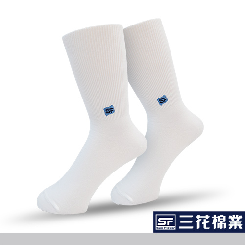【Sun Flower三花】三花無痕肌休閒運動襪.襪子_白