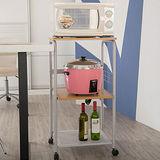 Peachy life 廚房三層移動式電器架/微波爐架/置物架