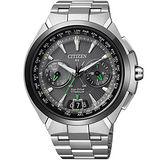 CITIZEN 光動能 衛星【鈦】高科技豪華旗艦腕錶-銀-CC1086-50E