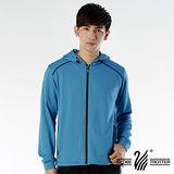 【遊遍天下】台灣製男款連帽抗UV吸濕排汗機能外套(寶藍 M-2L 品特)