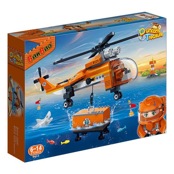 【BanBao 積木】海洋系列-深海直升機 7411(樂高通用)