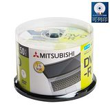 三菱 MITSUBISHI 日本限定版 DVD-R 4.7GB 16X 珍珠白滿版可噴墨燒錄片50片