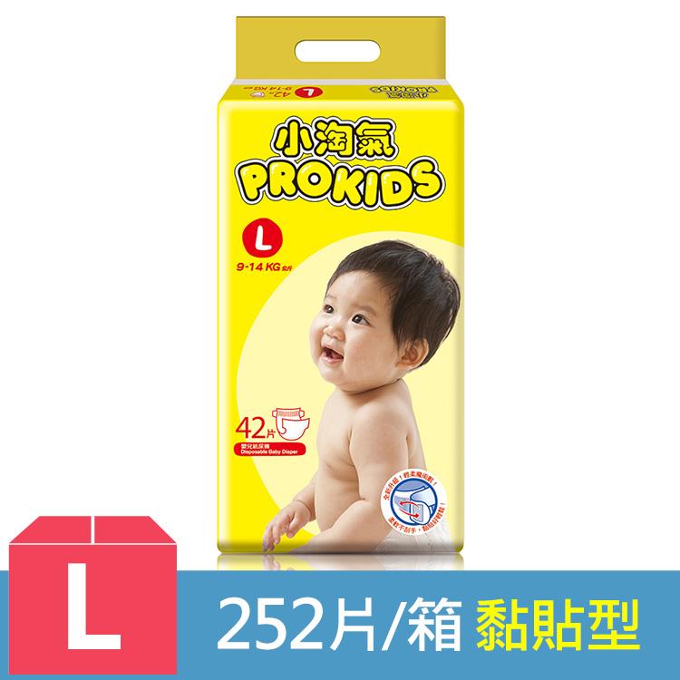 【小淘氣】透氣乾爽紙尿褲-L (42片x6包) /箱