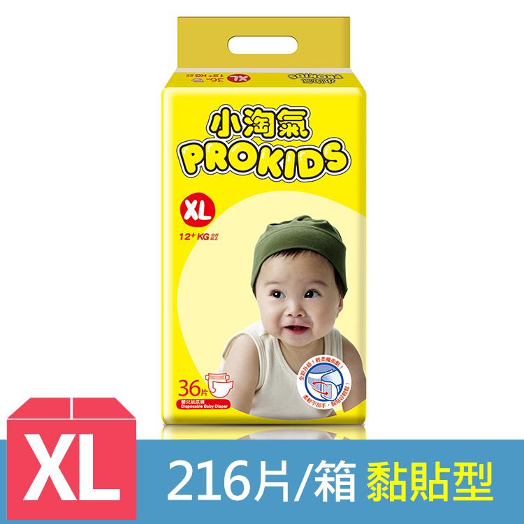 【小淘氣】透氣乾爽紙尿褲-XL (36片x6包) /箱