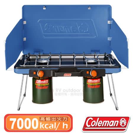 美國 Coleman 超輕薄 雙口大火力瓦斯爐