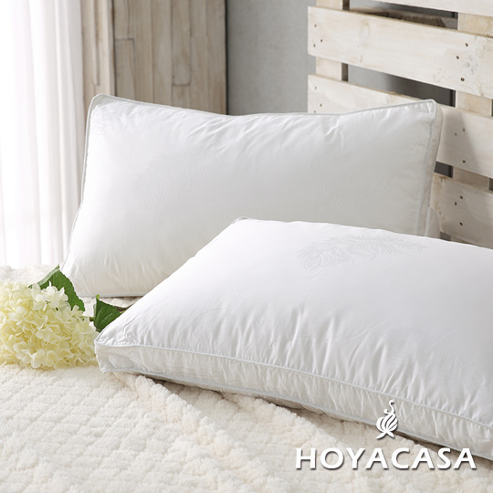 《HOYACASA羽織柔眠》100%水鳥羽絲絨枕(高支撐型)-一入