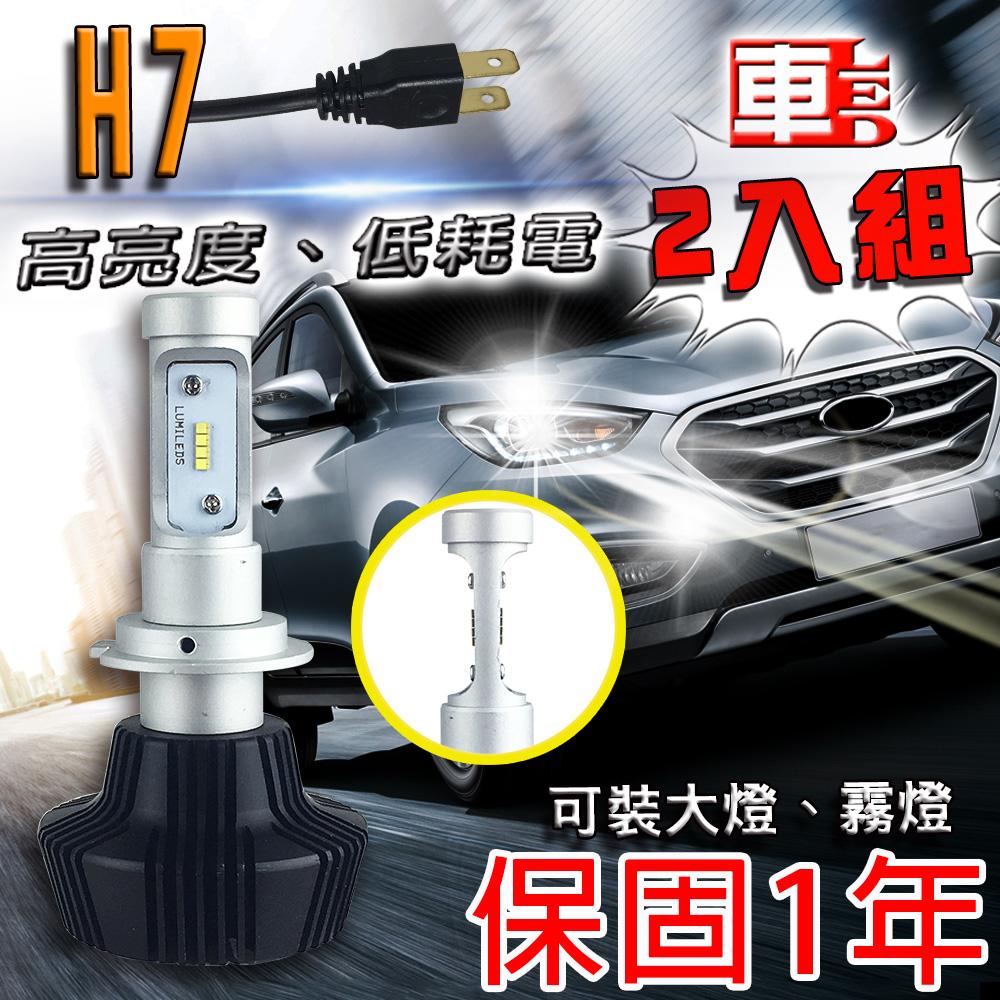 ~車的LED~勁亮LED大燈 H7  兩入組