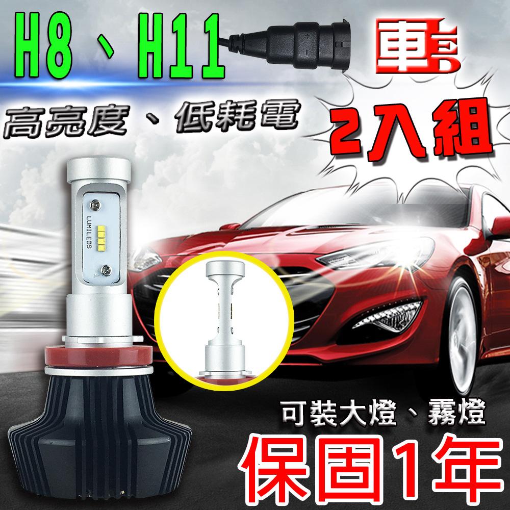 ~車的LED~勁亮LED大燈 H8 H11  兩入組