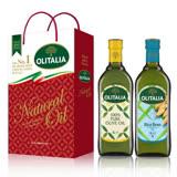 Olitalia奧利塔純橄欖油+玄米油禮盒組(1000mlx2瓶)