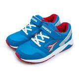 【大童】DIADORA 寬楦輕量慢跑鞋 復古經典潮流系列 藍紅灰 3966