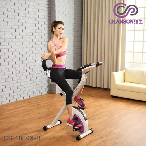 【強生CHANSON】樂活有氧健身車-含椅背-DIY組裝 (CS-1080X-B)