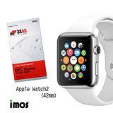 imos Apple Watch 42mm第二代 超抗撥水疏水疏油效果保護貼-兩入