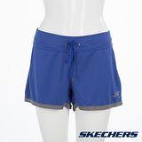 SKECHERS 女短褲 - GWPSH331BLUE