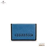 德國OFFERMANN-Koln系列- 編織造型名片夾-藍色