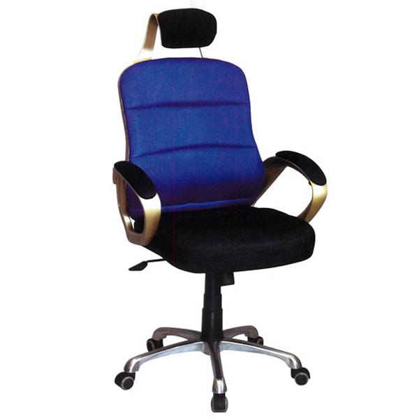 【百樂購】辦公椅(金框/藍黑) KHST110-2