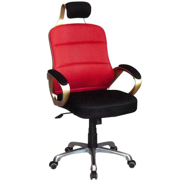 【百樂購】辦公椅(金框/紅黑) KHST110-4