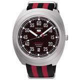 SEIKO 精工5號限量 限量 機械帆布運動錶-紅色 4R35-01M0R(SRPA87J1)