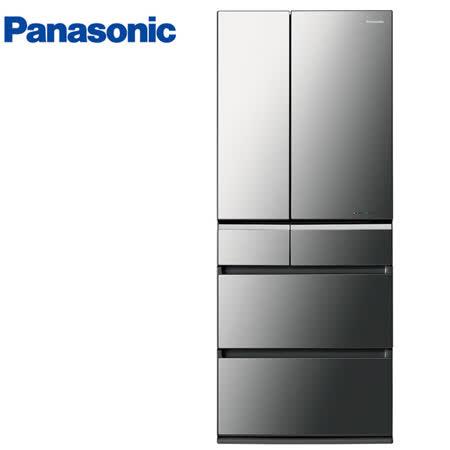 Panasonic國際601L日本製六門晶鑽鏡面變頻冰箱 NR-F602VX-X1