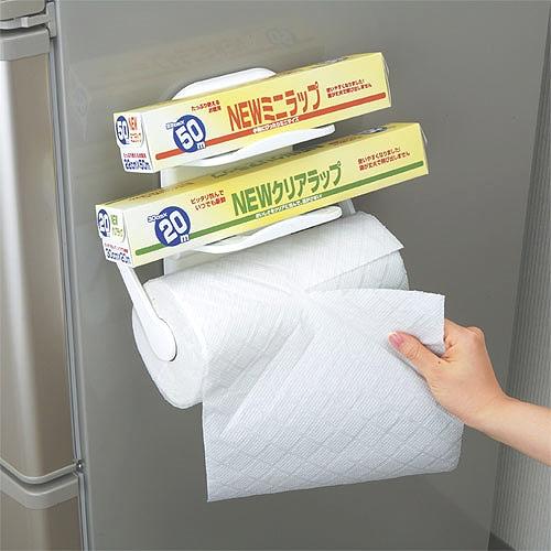 LEC磁吸式雙層保潔膜紙巾架