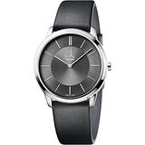Calvin Klein CK Minimal 極簡時尚腕錶-灰/40mm K3M211C4