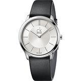 Calvin Klein CK Minimal極簡時尚腕錶-銀x灰/40mm K3M211C6