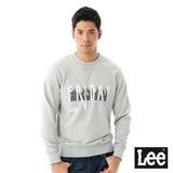Lee FRIDAY印刷長袖圓領厚T恤