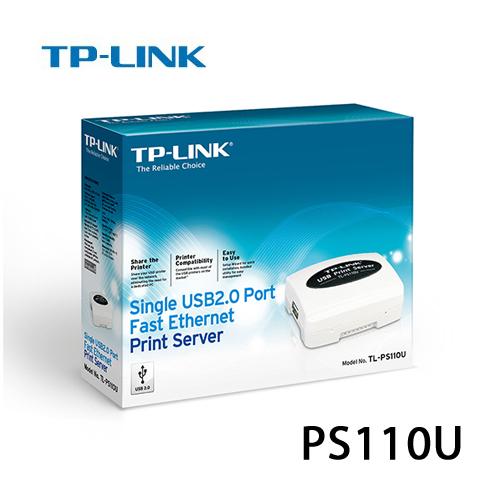 TP-LINK TL-PS110U 單一USB2.0 連接埠快速乙太網路列印伺服器