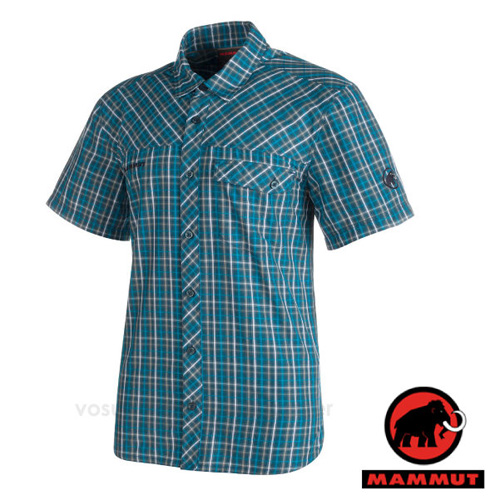 【瑞士 MAMMUT 長毛象】Asko Shirt 男 熱賣款 機能立體排汗短袖襯衫/抗菌吸濕快乾透氣/01532-5920 獵戶藍