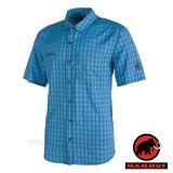 【瑞士 MAMMUT 長毛象】Lenni Shirt 男 熱賣款 機能立體排汗短袖襯衫/抗菌吸濕快乾透氣/01830-5872 大西洋藍