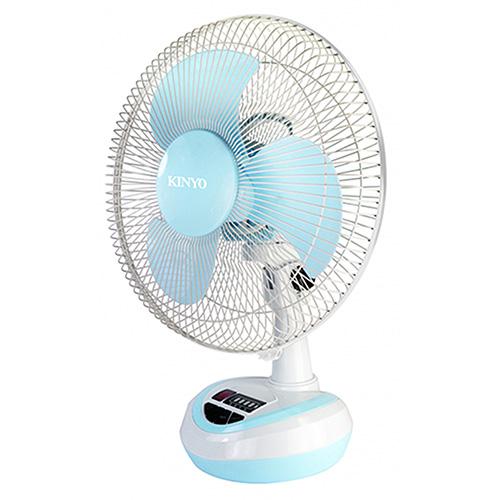 【KINYO】充電式電風扇 藍色(CF-1202)