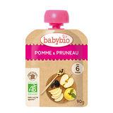 ✪法國Babybio 有機蘋果黑棗纖果泥✪90g