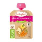 ✪法國Babybio 有機蘋果胡蘿蔔纖果泥✪90g