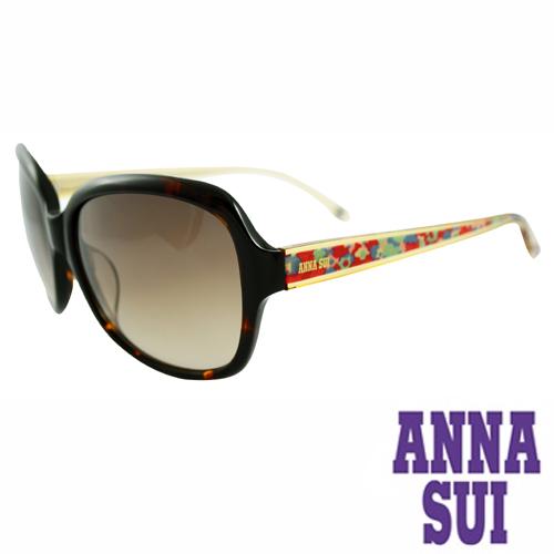 Anna Sui 日本安娜蘇波希米亞復古印花太陽眼鏡禮盒組(琥珀)AS940-101