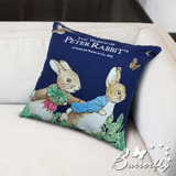 Butterfly-彼得兔-跑兔抱枕(藍)