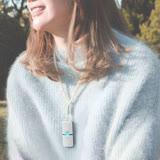 日本原裝 IONION LX超輕量隨身空氣清淨機 珍珠款吊飾鍊組合