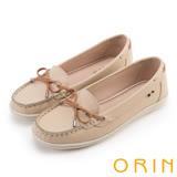 ORIN 復刻經典 嚴選高優質牛皮綁帶帆船鞋-粉色