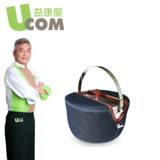 【 UCOM益康屋】牛仔系列防溢堤鍋16CM附提袋